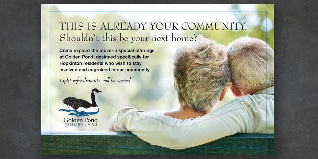 deHaas Creative Portfolio: Golden Pond Assisted Living brochure