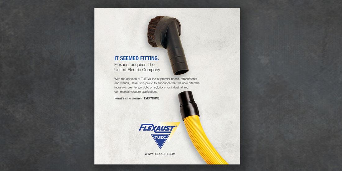 deHaas Creative portfolio: Flexaust Print Ad