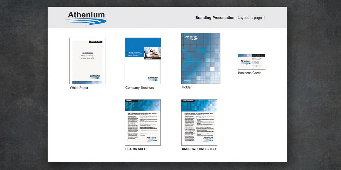 deHaas Creative portfolio: Athenium corporate identity