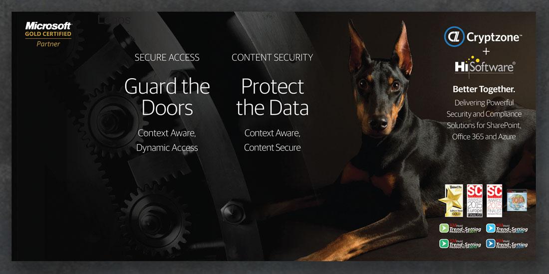 DeHaas Creative portfolio: Cryptzone trade show graphic