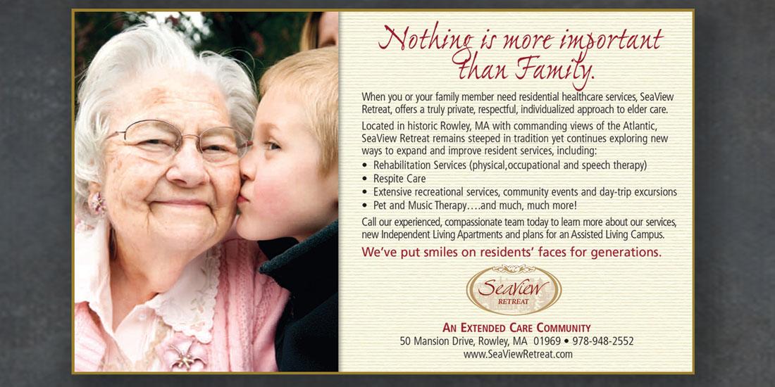 deHaas Creative Portfolio: Seaview Retreat assisted living brochure