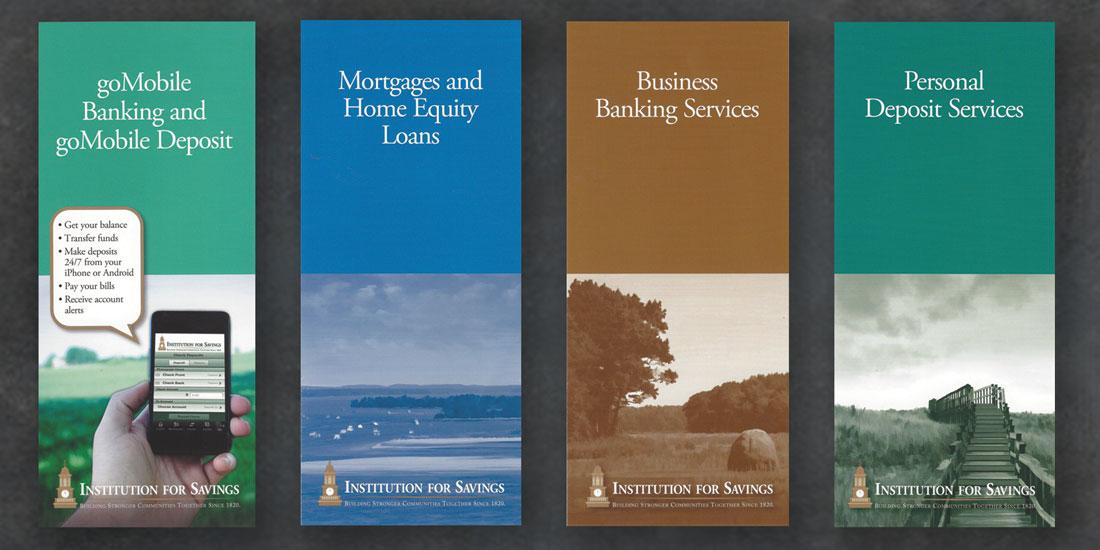deHaas Creative Portfolio: Institution for Savings brochures