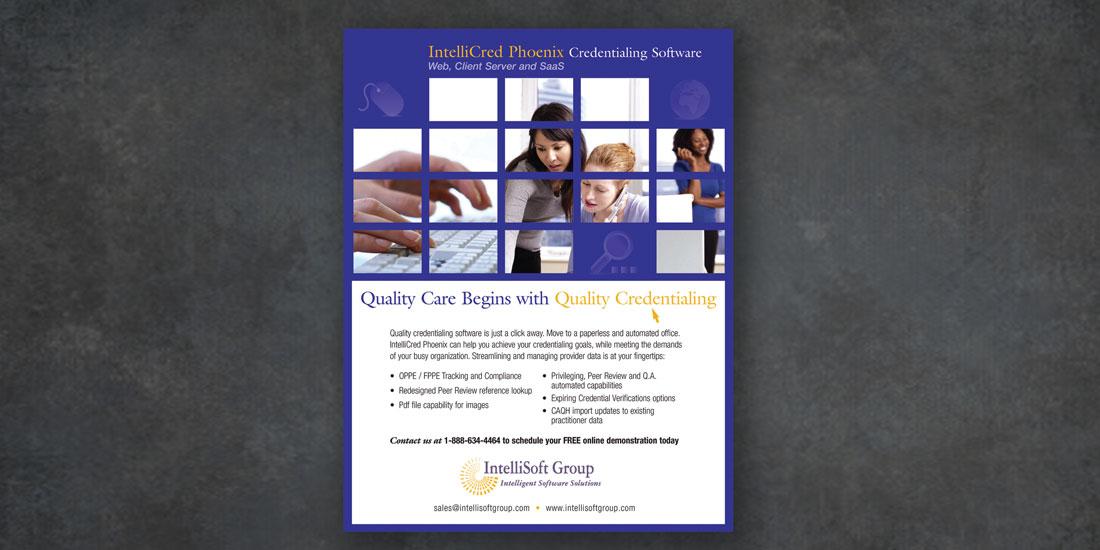 deHaas Creative portfolio: IntelliSoft Group brochure